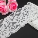 Lace trimmings, white, 5cm x 85cm, 1 piece, (LHP129)